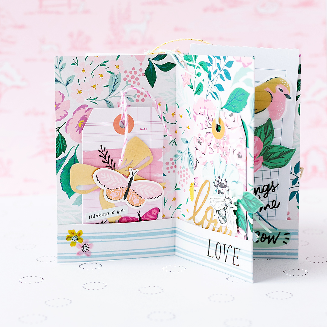 A lovely gift tag booklet with wonderful gift tags made with the Garden Party Collection by Crate Paper American Crafts