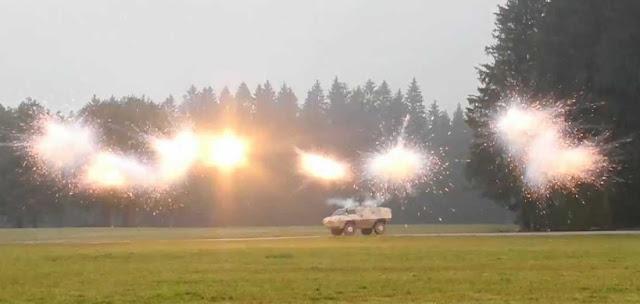 smoke Rheinmetall Rapid Obscuring System ROSY