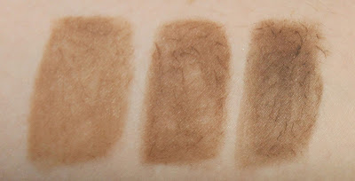 Maybelline Brow Drama Pomade Crayons dark blond medium brown dark brown review swatch swatches