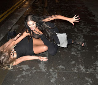 , Geordie Shore's Chloe Ferry flashes her stuffs before taking a tumble during night out, Latest Nigeria News, Daily Devotionals & Celebrity Gossips - Chidispalace