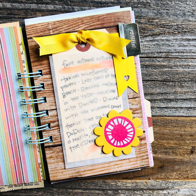 #junk journal #mini book #summer book #mixed paper journal #I Love It All #iloveitallshop #favorite outdoor activities