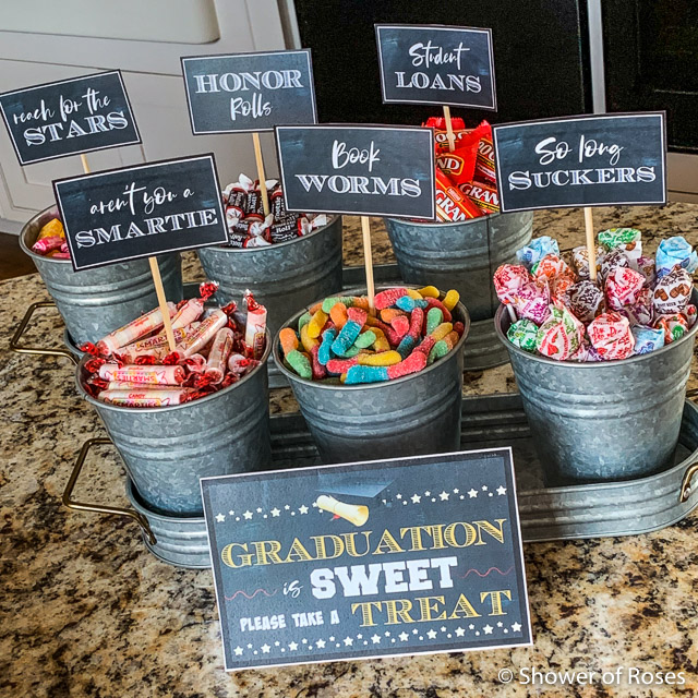 photo relating to Free Printable Candy Buffet Signs referred to as Shower of Roses: Commencement Occasion Sweet Buffet Cost-free Printables