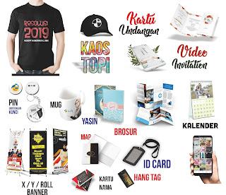 spanduk, brosur, kartu nama, banner, yasin