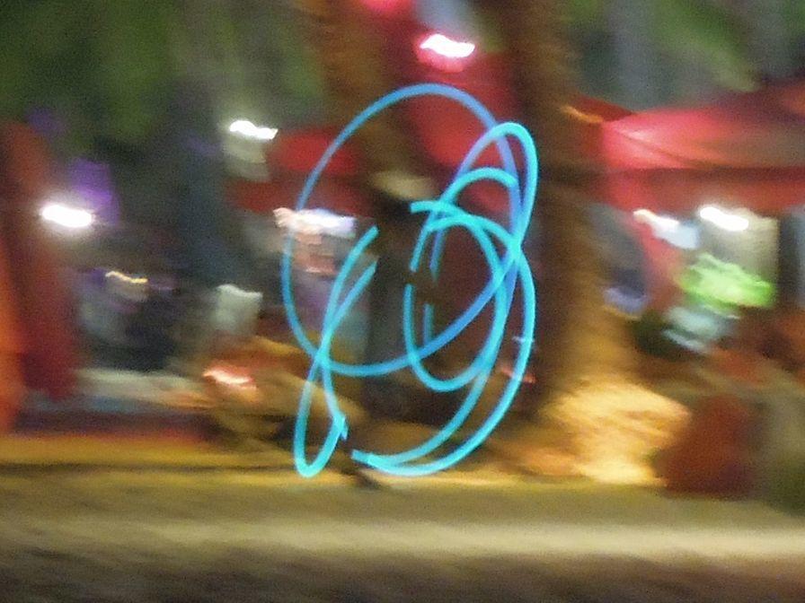 Fire dancers in Boracay