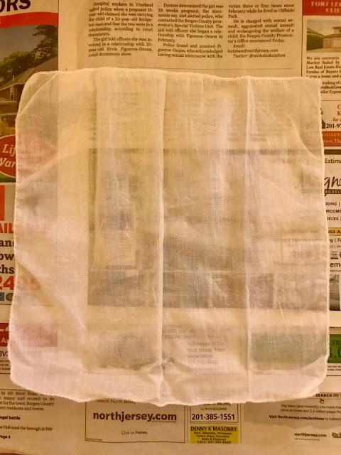 handkerchief, fabric, block printing basics, Indian block printing, block printing kit, blah to TADA, crafts, handmade, wood block printing, Potli a bag of wonders
