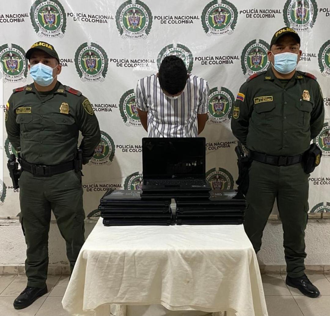 hoyennoticia.com, Policía recuperó en Valledupar, computadores robados en Pueblo Bello
