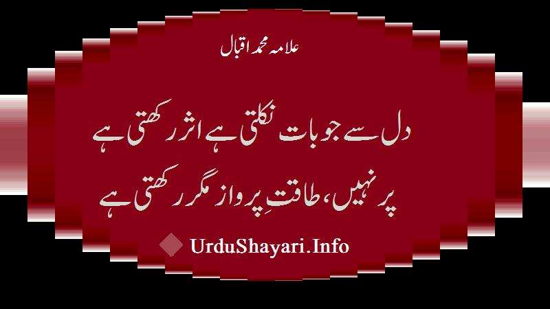 Dil Se Jo Baat - Best Allama Iqbal Poetry Urdu