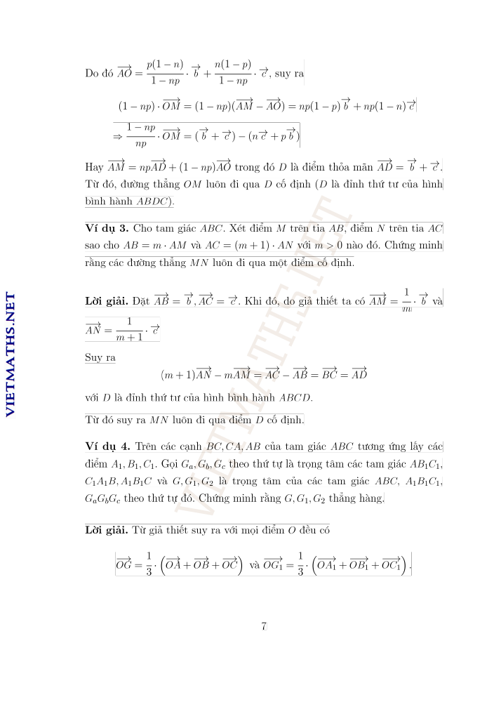 sử dụng véc tơ để chứng minh bài toán đồng quy