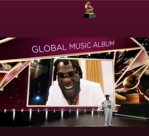 Burna Boy wins Best Global Music Album at 2021 Grammys