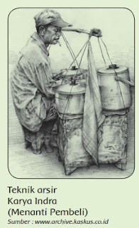 Teknik arsir Karya Indra (Menanti Pembeli) www.simplenews.me