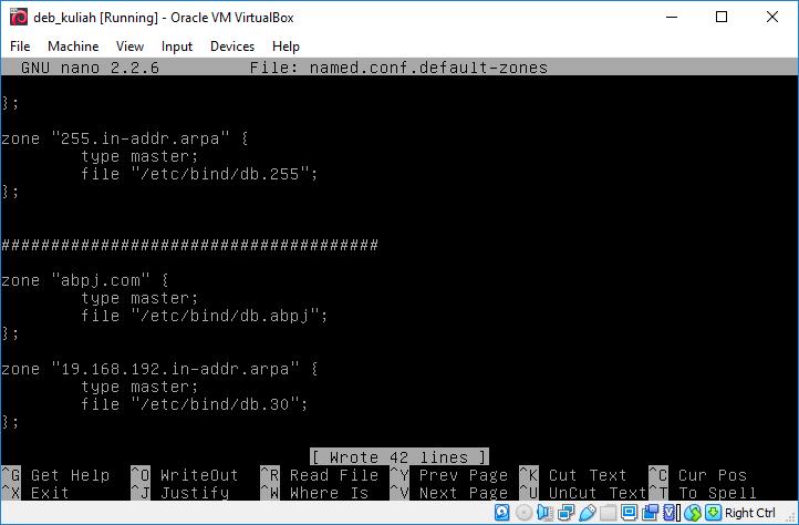Edit File named.conf.default-zones