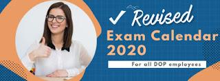 Revised India Post Exam calendar 2020