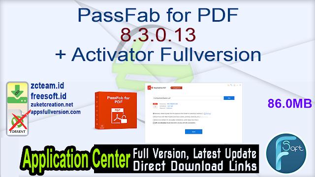 PassFab for PDF 8.3.0.13 + Activator Fullversion
