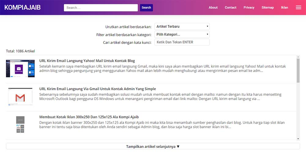 Menampilkan Sitemap Pada Halaman Static Blogger AMP HTML