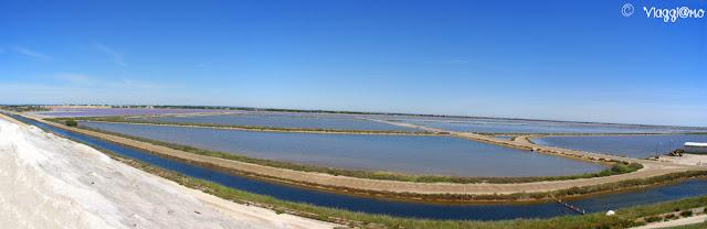 Splendido panorama sulle Saline di Aigues Mortes