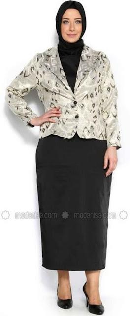 model baju batik kerja untuk wanita gemuk Terbaru