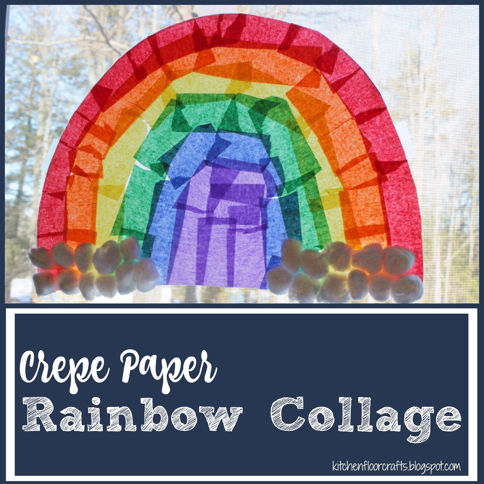 Contact paper for crafts subway art with the silhouette cameo and for this project we not only used the crepe paper but another favorite material contact paper weuve used contact paper to create a rainbow before too with jeuxipadfo Image collections