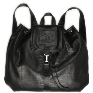 black CHANEL backpack