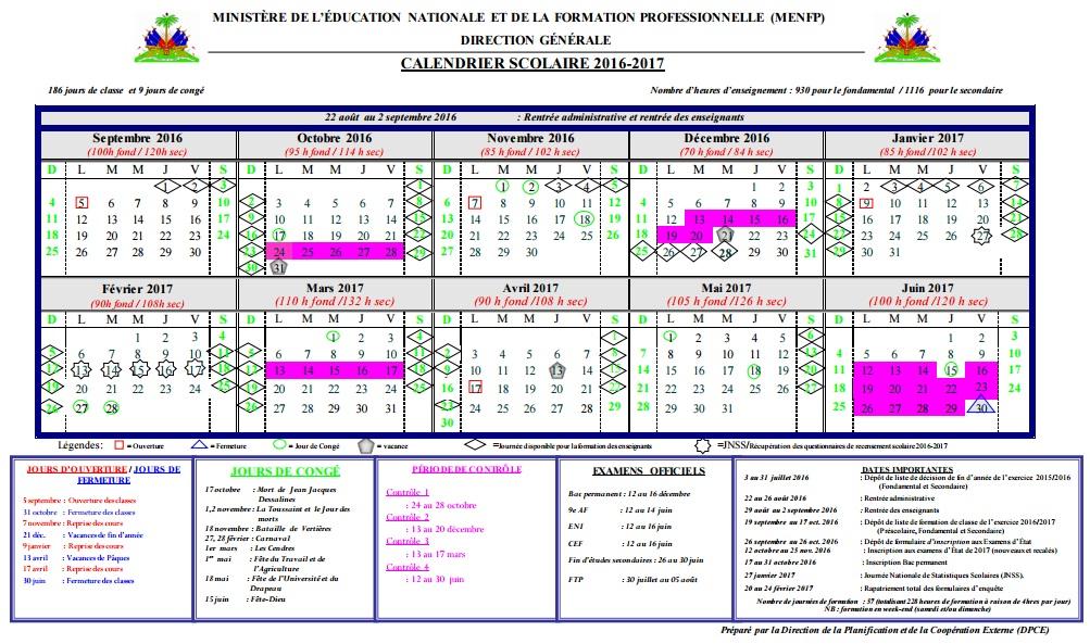 Vacances scolaires 2017 Calendrier officiel 2017 2017