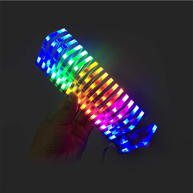 GHXAMP LED Music Spectrum DIY Kits VU Tower. Sound Column Electronic