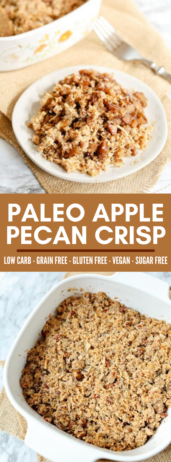PALEO APPLE PECAN CRISP (VEGAN, GLUTEN-FREE, DAIRY-FREE, GRAIN-FREE) #healthy #diet