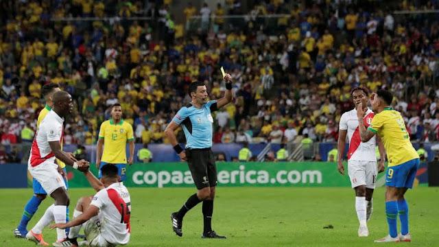Brazil vs Peru fouls
