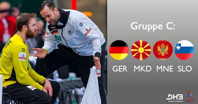 Handball EM 2018: Mazedonien mit Deutschland, Slowenien und Montenegro in Gruppe C