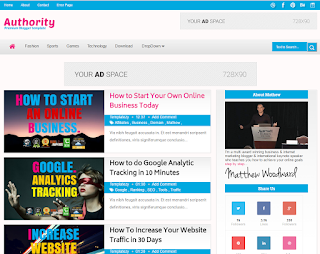 Authority MultiAds Blogger Template