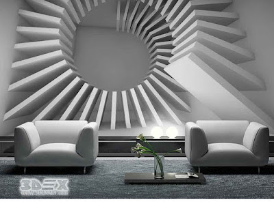 3D wallpaper images for living room interior walls