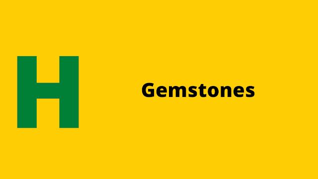 HackerRank Gemstones problem solution