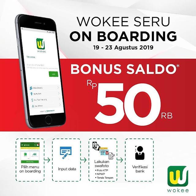 #Wooke - #Promo Wooke Seru On Boarding Bonus Saldo 50K (19 - 23 Agustus 2019)