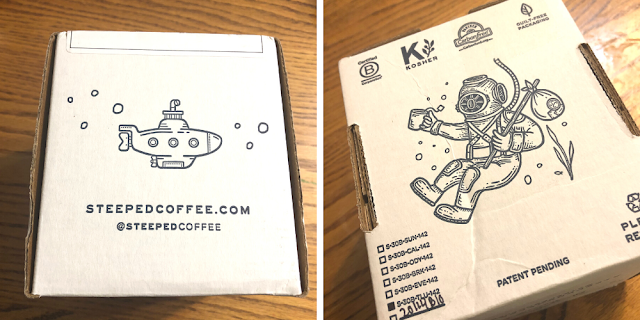 Love, love, love the packaging of Steeped Coffee!