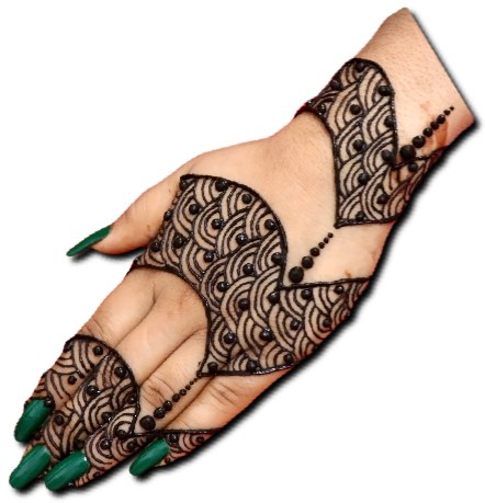 Dulhan Mehndi Design for Back Hand