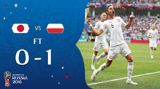 Japan vs Poland [0:1] Goals, Lucky Japan qualify for knockout stages through Fifa's fair play rules despite losing 1-0 to Poland