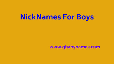 Nicknames For Boys