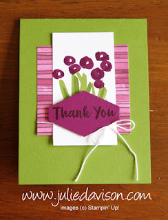 Stampin' Up! Abstract Impressions Thank You Card ~ 2018-2019 Annual Catalog ~ www.juliedavison.com