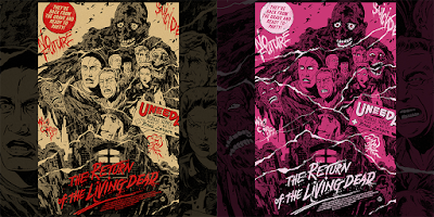 Return of the Living Dead Screen Print by Johnny Dombrowski x Mondo