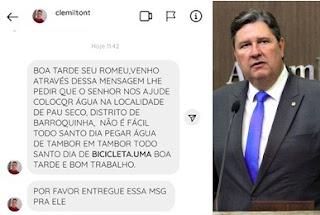 Falta de água em Barroquinha parte II - Morador do interior pede socorro ao deputado Romeu Aldigueri