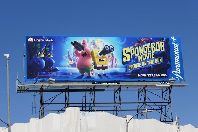 SpongeBob Movie on the Run Paramount billboard