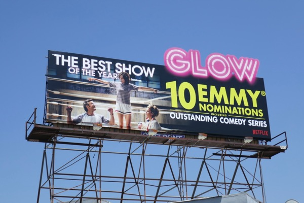 GLOW 10 Emmy nominations cut-out billboard
