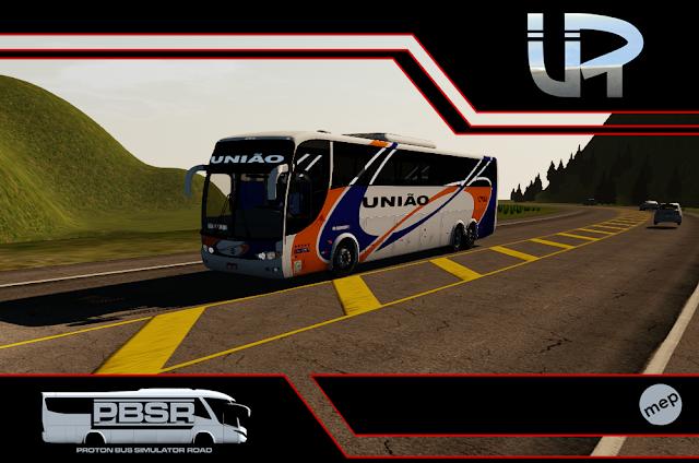 Skin Proton Bus Simulator Road - G6 1200 Scania K124 Expresso União