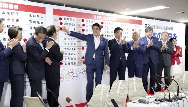 Koalisi yang Berkuasa di Jepang Mendapat Mayoritas Tempat di Majelis Tinggi