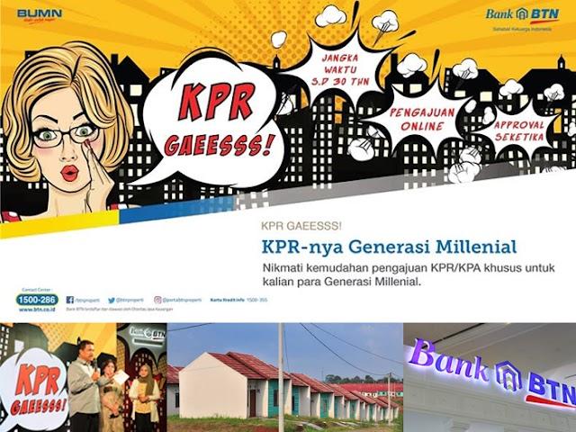 Inilah Cara Pengajuan KPR dengan DP 1% bagi Kaum Milenial dari Bank BTN