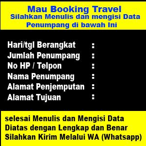 formulir Booking travel