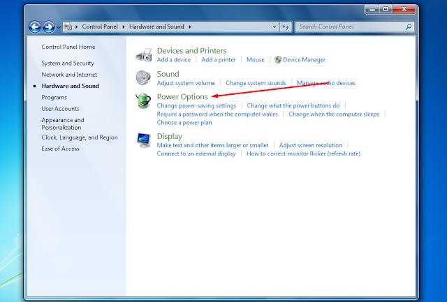 Cara Mengatur Cahaya Laptop dan PC Windows 7 dengan Mudah - Power Options - Brightness