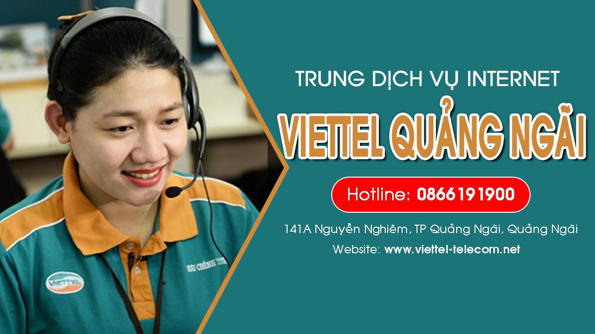 Viettel Quảng Ngãi - Đơn vị lắp mạng Internet và Truyền hình ViettelTV