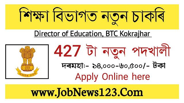 Director of Education , BTC, Kokrajhar Recruitment 2021: