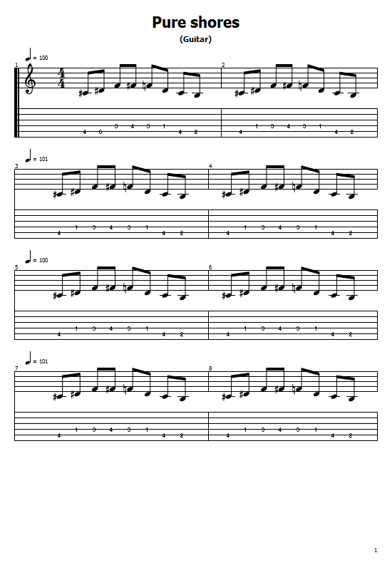 Pure Shores Tabs All Saints. How To Play Pure Shores On Guitar/ All Saints Pure Shores Free Tabs / All Saints Sheet Music. All Saints - Pure Shores
