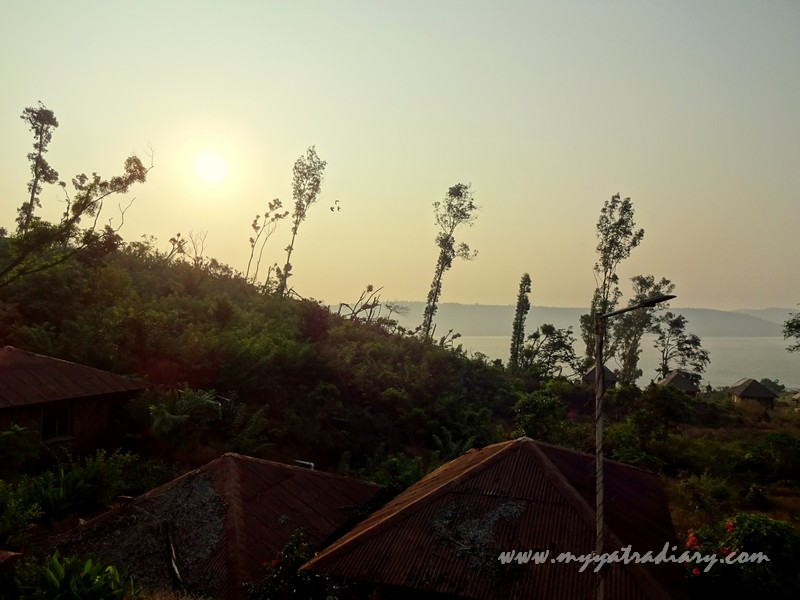 Sunrise from the MTDC luxury Resort Harihareshwar, Maharashtra