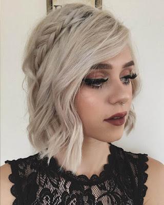 Peinado con trenza tumblr